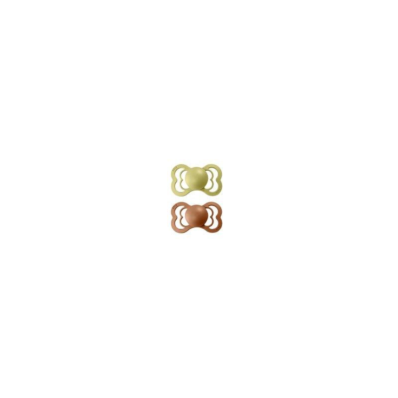 2 Tétines Bibs Supreme  Taille 2   Anis et sienne - Bibs