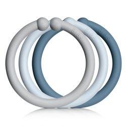 Pack de 12 anneaux | Bleu...