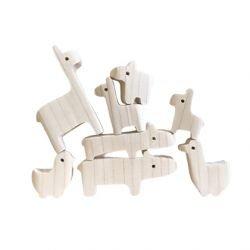 Zoo - set de jouets en bois par KMR Childwood