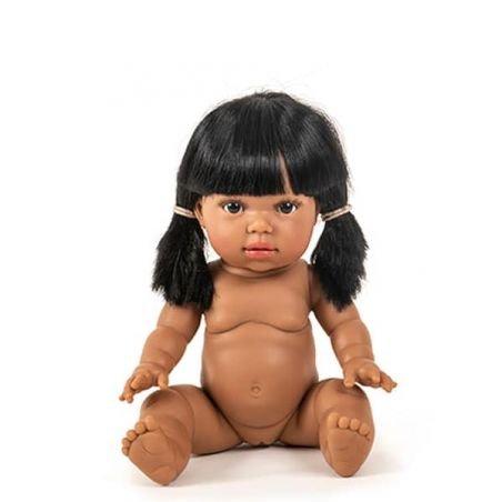 Latika, Poupée fille avec cheveux par Paola Reina