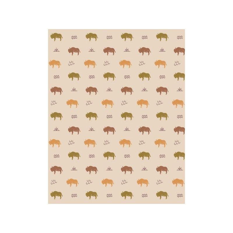 Motif poussette canne Buffalo par Minikane