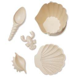 Set de plage Coquillage beige par Konges Slojd