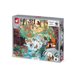 Boite du puzzle les empreintes des animaux - 81 pièces par Janod