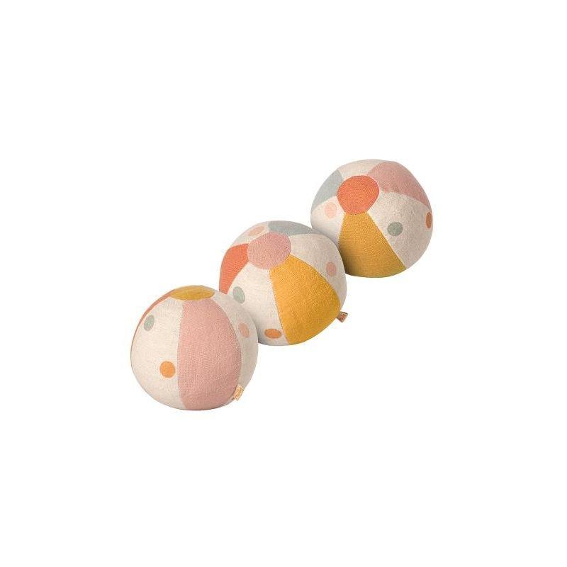 3 balles colorées par Maileg