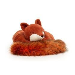 Doudou renard endormi