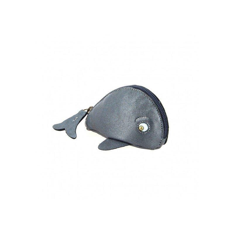 Porte monnaie baleine midnight par Easy Peasy