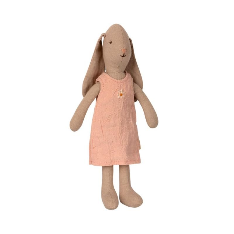 Lapin robe rose Taille 1 assise par Maileg