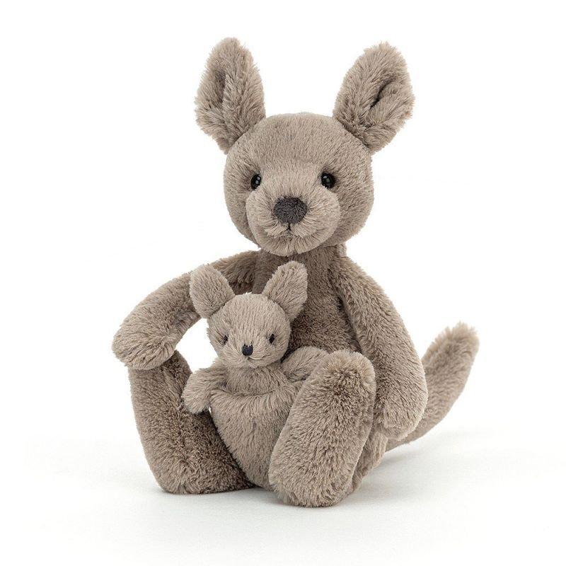 Doudou kangourou par Jellycat vue de côté