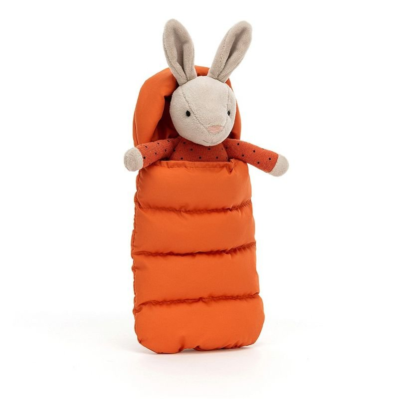 Doudou Lapin dans son sac de couchage par Jellycat