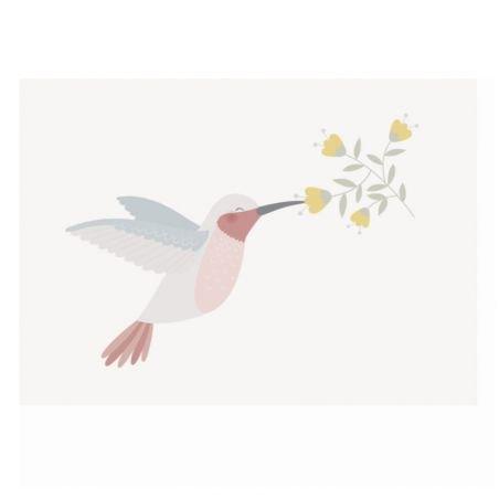 Carte double Colibri par Zü