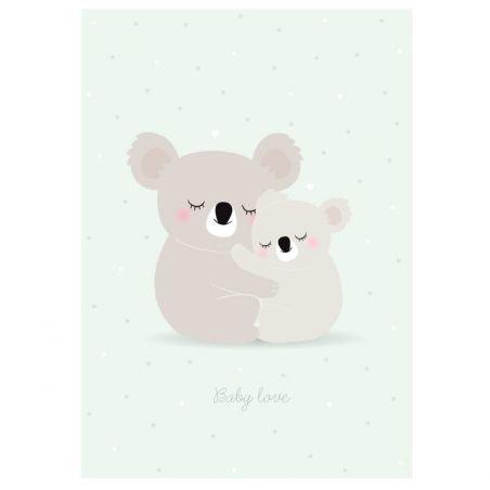 Affiche koala par Zü
