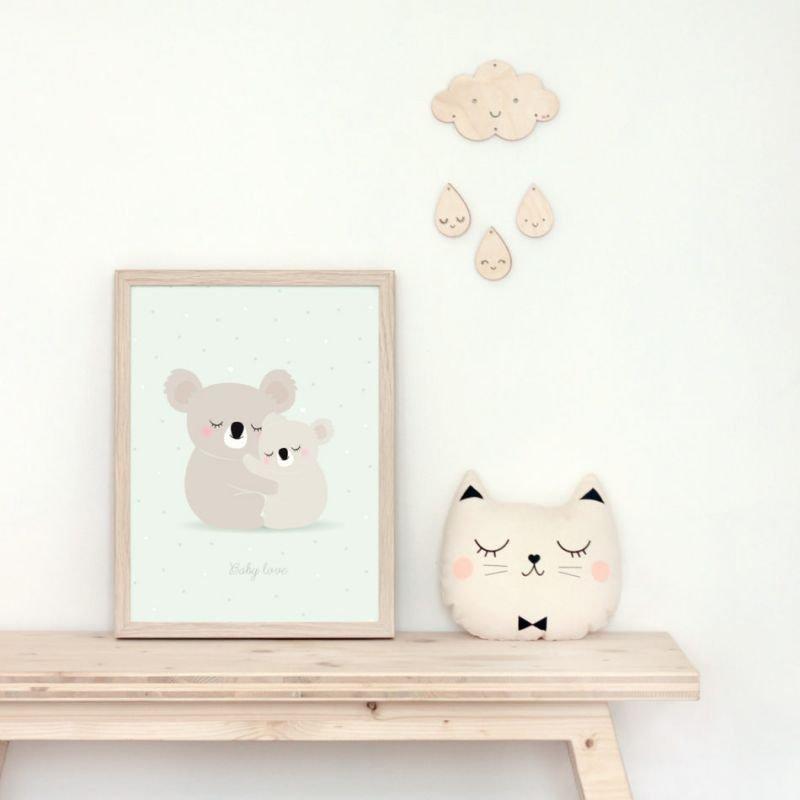 Affiche koala par Zü dans un cadre