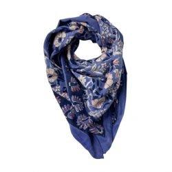 Foulard Paon 70 x 70 Bleu roi par Little cecile