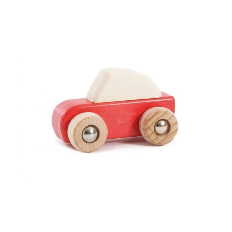 Voiture à friction en bois Rouge par Bajo