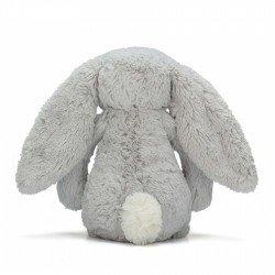 Peluche lapin Bashful gris 31 cm par Jellycat vu de dos