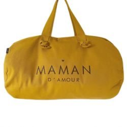 Sac polochon moutarde | Maman d'amour