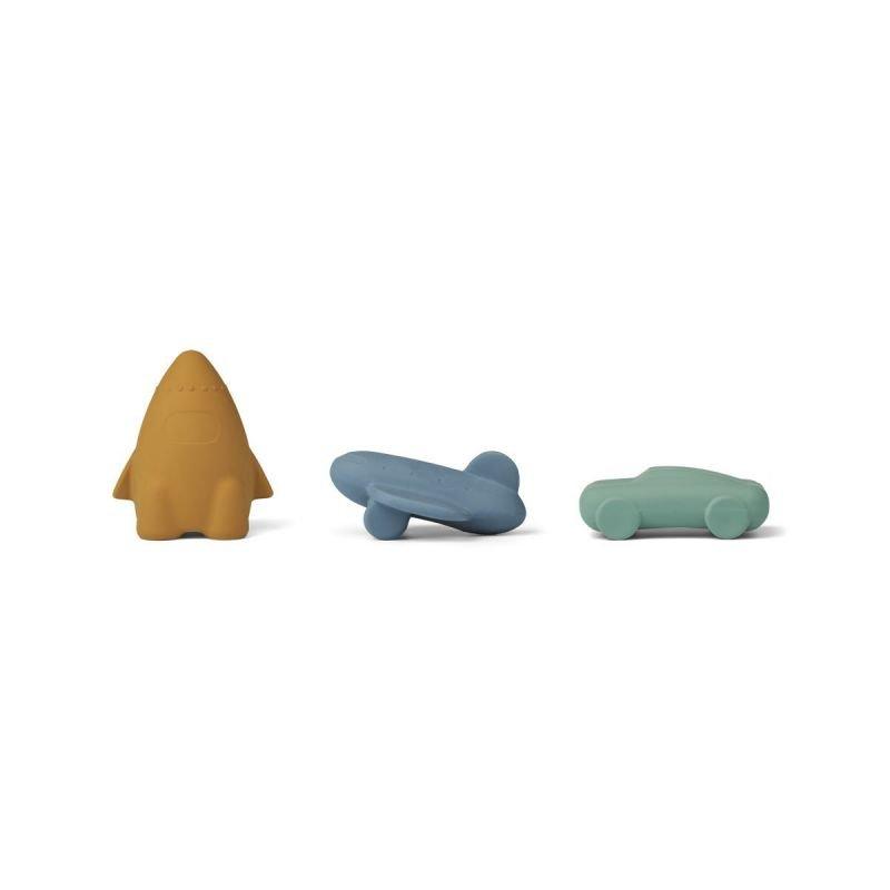 3 jouets pour le bain   Véhicules Bleus