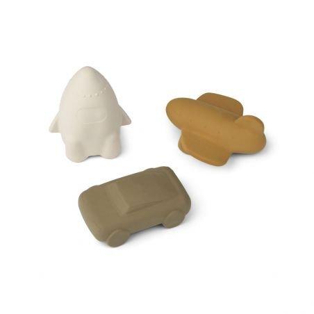 3 jouets pour le bain | Véhicules Golden Caramel - Liewood