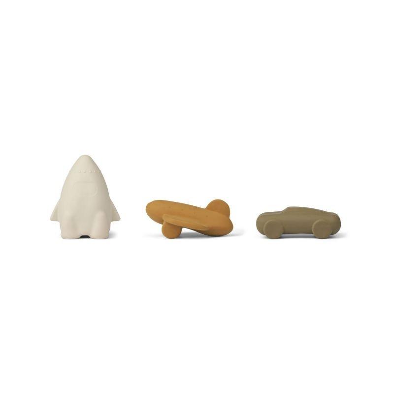 3 jouets pour le bain | Véhicules Golden Caramel