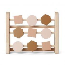 Abacus en bois   Rose
