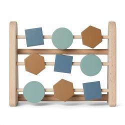 Abacus en bois   Bleu