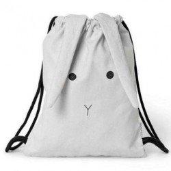 sac à dos lapin gris