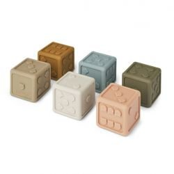 Petits cubes en silicone | Kaki mix