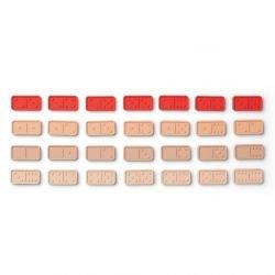 Dominos en silicone   Rose et rouge