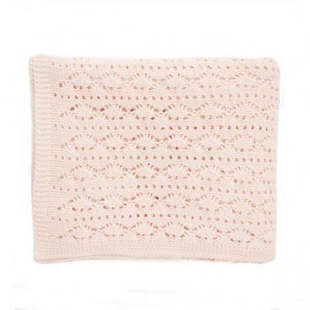 Couverture dentelle de coton rose pâle par Rose in April