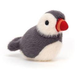 Doudou petit oiseau | Gris et blanc
