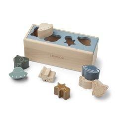 Boite à formes en bois   Espace Bleu clair