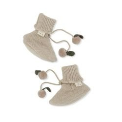 Chaussons laine | Beige