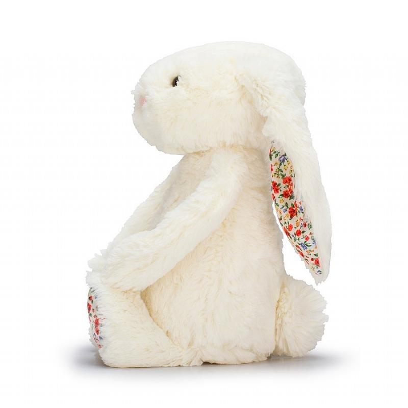 Lapin Blanc Blossom 31 cm Jellycat vu de côté