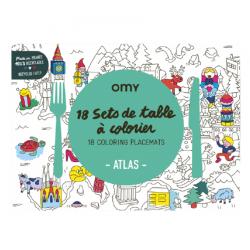 18 sets de table à colorier   Noël