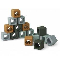 16 petits cubes en silicone | Vert