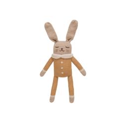 Doudou lapin, combinaison moutarde