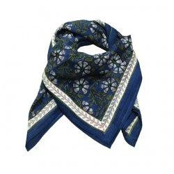 Foulard Diya | Bleu/Gris