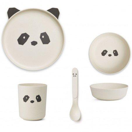 Ensemble de vaisselle panda en bambou Liewood