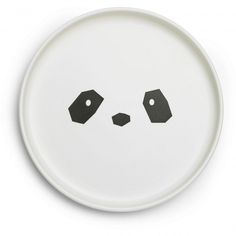 Assiette du kit vaisselle panda en bambou Liewood