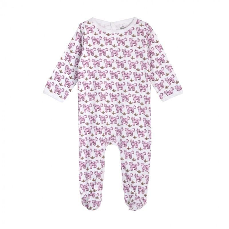 Pyjama imprimé Tigre rose par Brai porté par un enfant