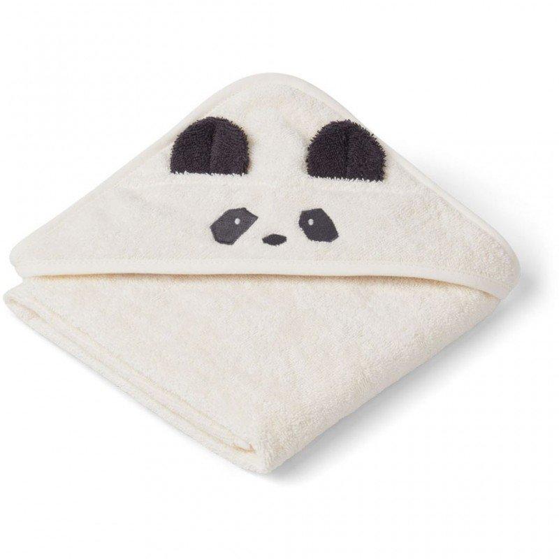 Grande cape de bain éponge avec tête de panda et coton bio porté