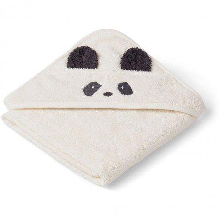 Grande cape de bain éponge avec tête de panda et coton bio