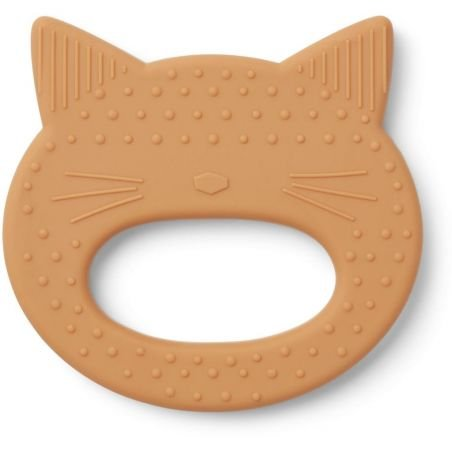 Anneau de dentition chat moutarde par Liewood