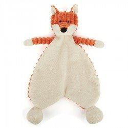 Doudou côtelé en forme de renard Jellycat