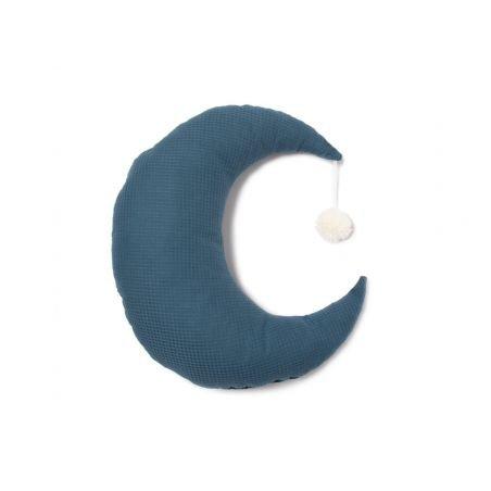 Coussin lune Pierrot Bleu nuit