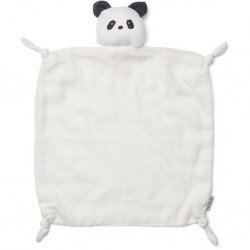 Doudou en gaz de coton bio en forme de panda Liewood