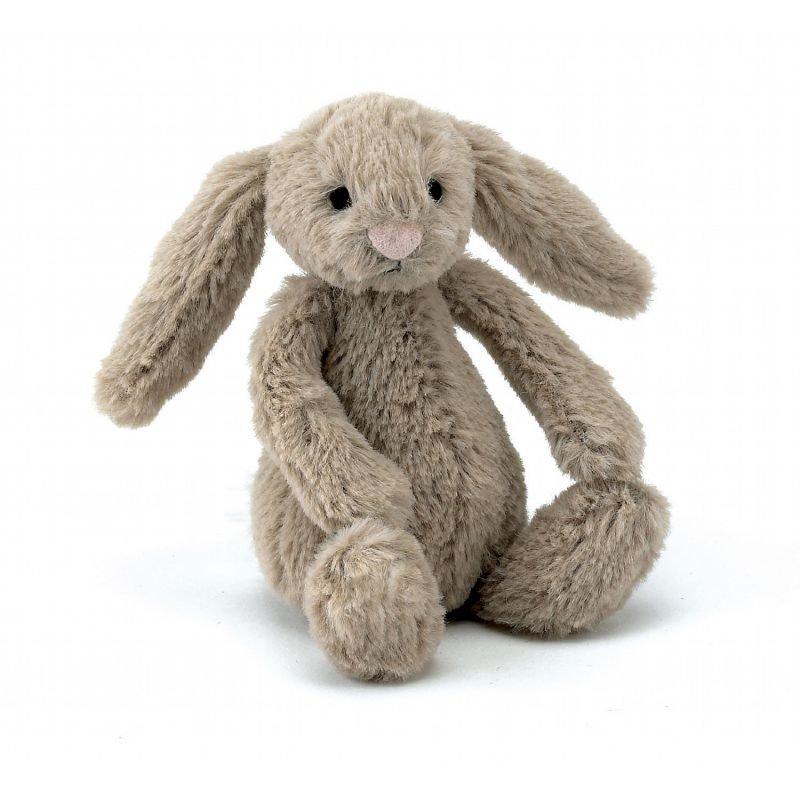 Petit Lapin Beige Bashful 18 cm par Jellycat de dos
