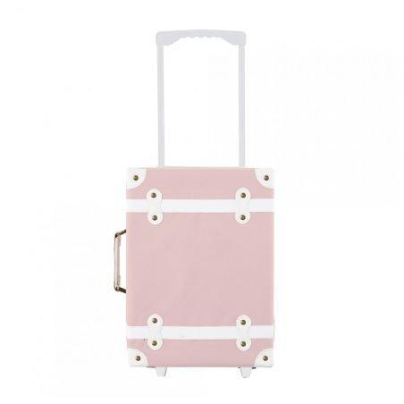 Valise à roulettes rose