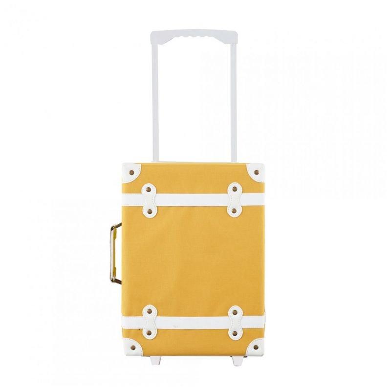 Valise à roulettes moutarde