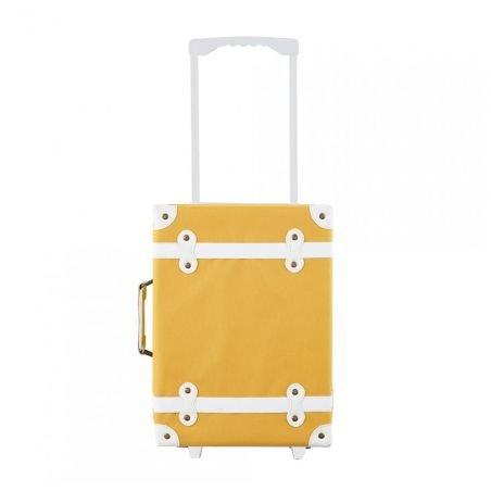 Valise à roulettes moutarde par Olliella